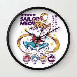 Sailor Meow Wall Clock