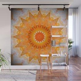 Sunny Mandala Design Wall Mural