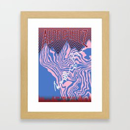 Alpe D'Huez Cycling Artwork Framed Art Print