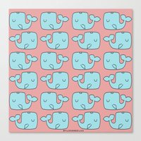 whales Canvas Prints featuring Whales by bylosangeles