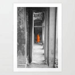 Saffron Portrait I Art Print