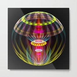 Alien sphere fractal fantasy Metal Print