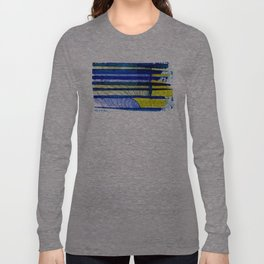 WAY OF THE OCEAN - Yellow & Blue Waves Long Sleeve T-shirt