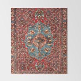 Bidjar Antique Kurdish Northwest Persian Rug Print Throw Blanket