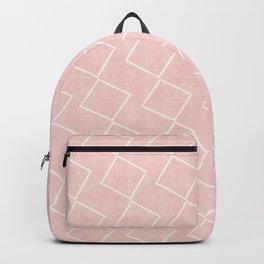 Tilting Diamonds in Pink Backpack