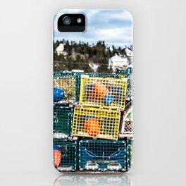 Lobster fishing season preparation iPhone Case
