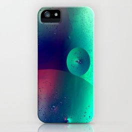 Electric Oil Droplets Number One iPhone Case