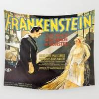 frankenstein Wall Tapestries featuring FrankenStein by Hitting 50