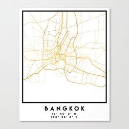 BANGKOK THAILAND CITY STREET MAP ART Canvas Print