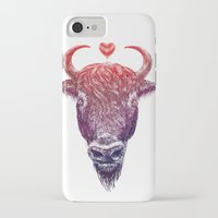 bison iPhone & iPod Cases featuring bison by adi katz
