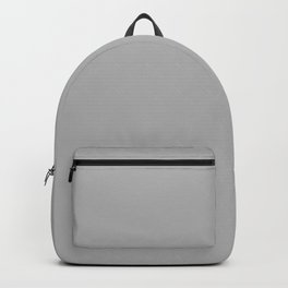 Simple Gray / Grey Luxe Solid Color Backpack