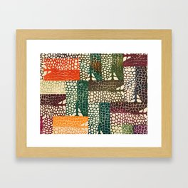Bones & Scales Framed Art Print