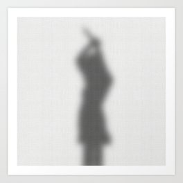 Psycho Curtain Art Print