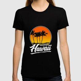 Aloha Hawaii T-Shirt Hawaii Luau Tropical Summer Beach T-shirt