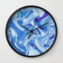 Swirling Glass Wall Clock