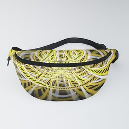 Yellow Tape Roller Coaster Ride on Fractal Rails Fanny Pack