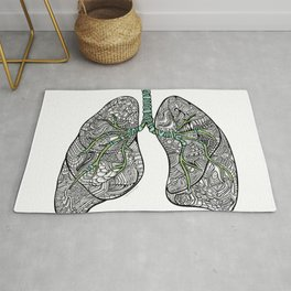 Blue & Green Lungs Rug