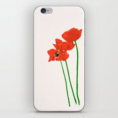 Lovely Poppies iPhone & iPod Skin