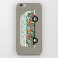 hippie iPhone & iPod Skins featuring Hippie van by eARTh
