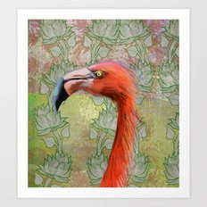 Red big bird Art Print