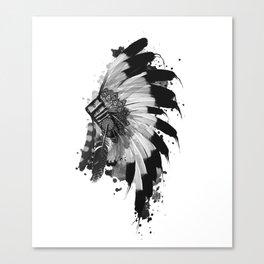 black and white headdress Canvas Print