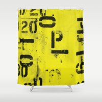 code Shower Curtains featuring Code by ayarti