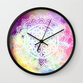 Flower Of Life (Batik 13) Wall Clock