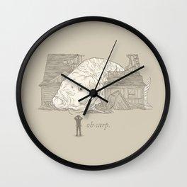 Oh carp. Wall Clock