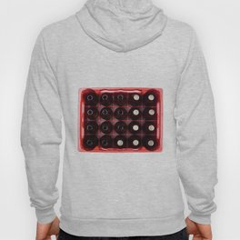 bottles of beer in crate isolated Hoody