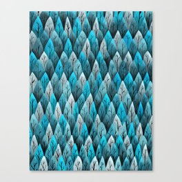 Turquoise Forest Pattern Canvas Print