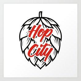 Hop City Art Print