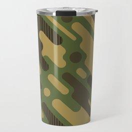 Retro Camouflage Pattern Travel Mug