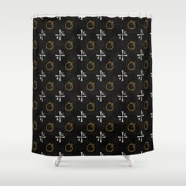 Vampires symbols Shower Curtain