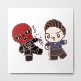 Bucky Punch! Metal Print