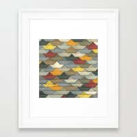 boats Framed Art Prints featuring Boats by GLOILLUSTRATION