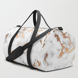 Marble Texture with Gold Splatter 040 Duffle Bag