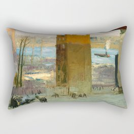 George Bellows - The Lone Tenement, 1909 Rectangular Pillow