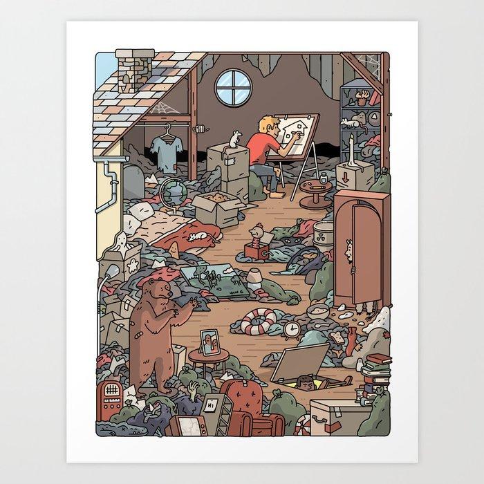Artist in the Attic Art Print