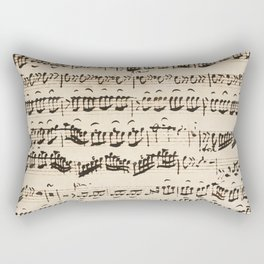 Johann Sebastian Bach (1685 – 1750) original music sheet Rectangular Pillow
