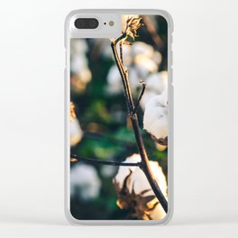 Cotton Field 20 Clear iPhone Case