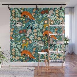 Woodland Pattern Wall Mural