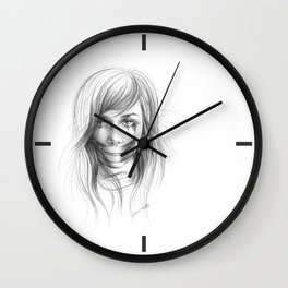 Keep smiling for me Wall Clock