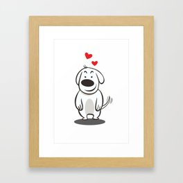 MY FUNNY DOG Framed Art Print