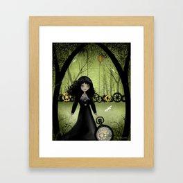 Dark Steampunk Art 'Clockwork Princess' Framed Art Print