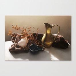 Warm Still Life Painting Canvas Print