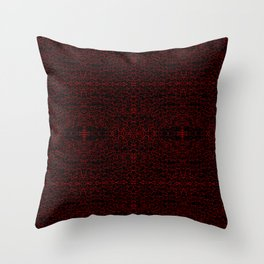 Red Swirlicues On Black Throw Pillow