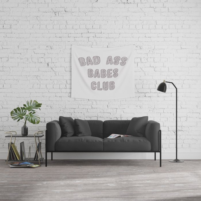 Bad Ass Babes Club purple Wall Tapestry