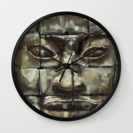 The Face of Angkor Thom Wall Clock