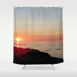 Kayak and the Sunset Shower Curtain