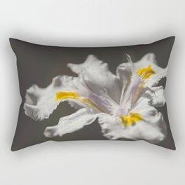 White Iris 4 Rectangular Pillow